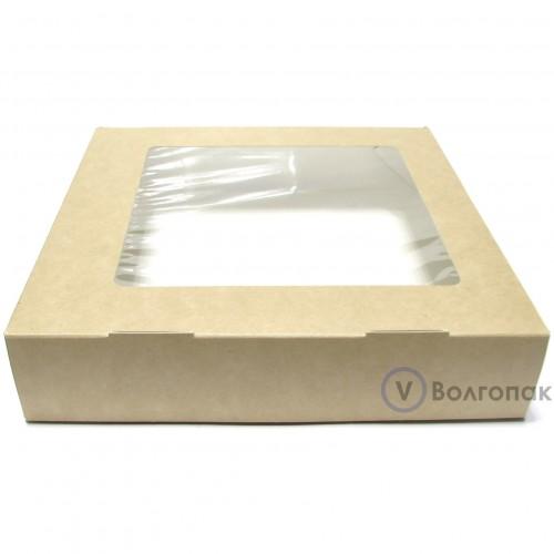 Коробка с окном 20х20х4 см